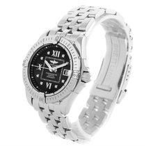 Breitling Windrider Cockpit Ladies Black Diamond Dial Watch...