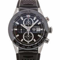 TAG Heuer Carrera 43 Chronograph Black Rubber Calibre Heuer 01