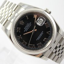 Rolex DATEJUST ROMAN BLACK DIAL JUBILEE BAND M-SERIES