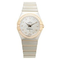 Omega Constellation 18k Rose Magic Diamond Silver Quartz...