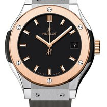 Hublot 581.no.1181.rx Classic Fusion Quartz Titanium 33mm Rose...