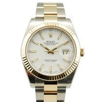 Rolex DateJust Two Tone 18kt Yellow Gold/SS Fluted Bezel-126333