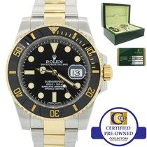 Rolex Submariner Black Ceramic Two-Tone Gold Divers SEL Wa