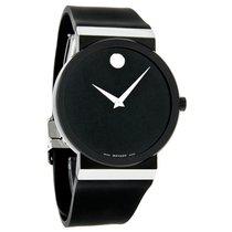 Movado Sapphire Synergy Mens Black Dial Swiss Quartz Watch...