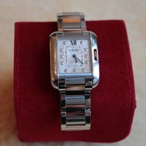 Cartier Tank Anglaise, large model, gold & steel, 11...