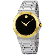 Movado Collection Black Dial Two-Tone Men's Watch
