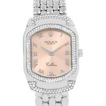 Rolex Cellini Cellissima White Gold Diamond Ladies Watch 6693...