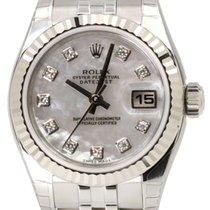 Rolex Datejust 179174 Ladies 26mm White Mother of Pearl...