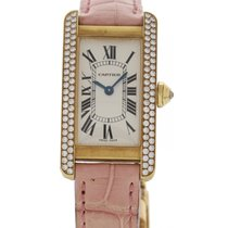 Cartier Ladies Cartier Tank Americaine 18K YG & Diamond 2482