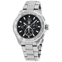 TAG Heuer Aquaracer Chronograph Black Dial Mens Watch CAY1110....