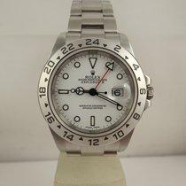Rolex Explorer II 16570 box & Paper 2005 like new white dial