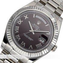 Rolex Day Date II Weißgold 218239 verklebt