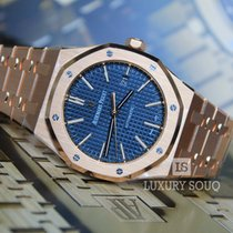 Audemars Piguet ROYAL OAK FULL ROSE GOLD BLUE DIAL