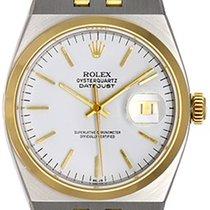 Rolex Oysterquartz Datejust 2-Tone Men's Watch 17013 White...