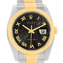 Rolex Datejust Steel Yellow Gold Jubilee Roman Dial Mens Watch...