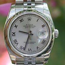 Rolex Mens Ladies 36mm Datejust Watch Stainless Steel 116200...
