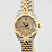 Rolex Datejust Two Tone 18k Gold & Stainless Steel Silver...