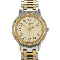 Hermès Clipper en plaqué or et acier Ref : CL3.440 Vers 2000