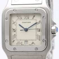 까르띠에 (Cartier) Santos Galbee Steel Quartz Mens Watch 987901...