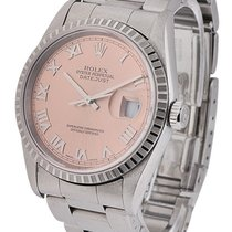 Rolex Used 16220 Mens Steel Datejust with Oyster Bracelet -...