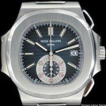 Patek Philippe Ref# 5980/1A, Blue Dial, Nautilus, Chronograph