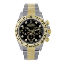 Rolex DAYTONA Steel & 18K Yellow Gold Black Diamond Dial 2016