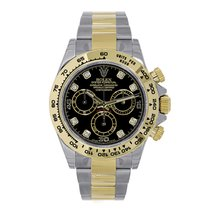 Rolex DAYTONA Steel & 18K Yellow Gold Black Diamond Dial