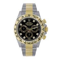 勞力士 (Rolex) DAYTONA Steel & 18K Yellow Gold Black Diamond...