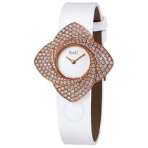 Piaget Limelight Blooming White Dial White Satin Strap Ladies...