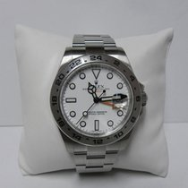 Rolex Explorer ll 216570 white dial stainless steel