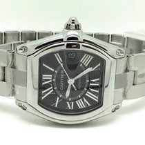 Cartier Roadster Tonneau Steel Black Roman Dial (Full Set)