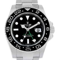 Rolex Gmt Master Ii Ceramic Bezel 40mm Steel Mens Watch 116710