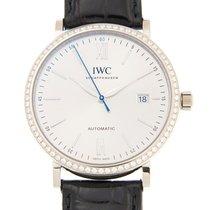 IWC Portofino 18k White Gold With Diamond Silver Automatic...