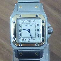 Cartier Santos Galbee Stahl / 18 k Gold kleines Modell...