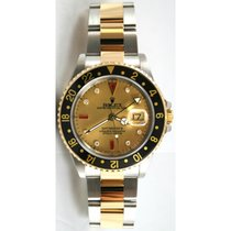 Rolex GMT Master II Steel and Gold Model 16713 Custom Champagn...