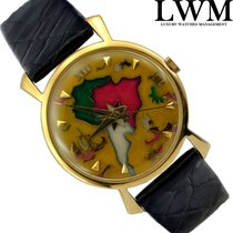 Jaeger-LeCoultre Enamel cloisonne very rare yellow gold 18KT...