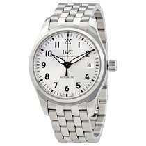 IWC Pilot Automatic Silver Dial Stainless Steel Mens Watch...