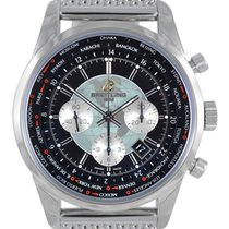 Breitling Transocean Chronograph Unitime GMT Mesh Watch...