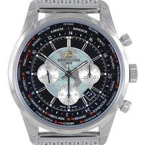 Breitling Transocean Chronograph Unitime GMT Mesh Watch...