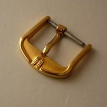 Universal Genève yellow gold plated buckle 16 mm, NOS