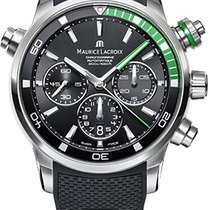 Maurice Lacroix Pontos S Chronograph, Green Details, Rubber/Ca...