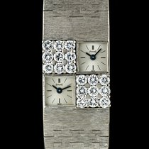 Piaget 18k W/G Diamond Set Dual Time Ladies Cocktail Watch 1037A6
