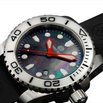 Deep Blue Sea Ram 500 Diving Watch 500m Wr Swiss Quartz White...