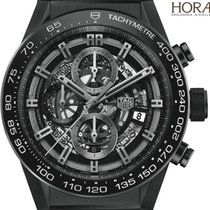 TAG Heuer Men's Carrrera Heuer 01  Black ceramic rubber...