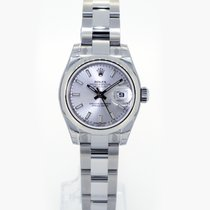 Rolex Lady Datejust 26mm Silver Baton Dial 179160