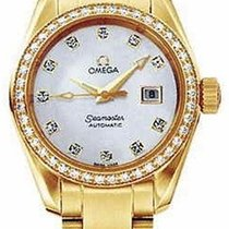 Omega 2165.75.00 Seamaster Aqua Terra in Yellow Gold with...