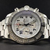 Breitling Super Avenger 48mm A13370 Steel Chrono Factory...