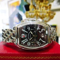 Franck Muller Conquistador 8001 Cc Chronograph Auto Stainless...