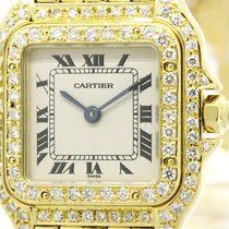 Cartier Polished Cartier Panthere Custom Diamond 18k Gold...