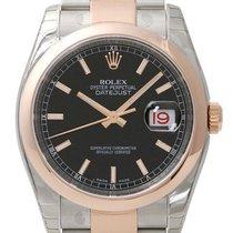 Rolex Datejust 36mm Stahl / Roségold Ref. 116201 Schwarz I